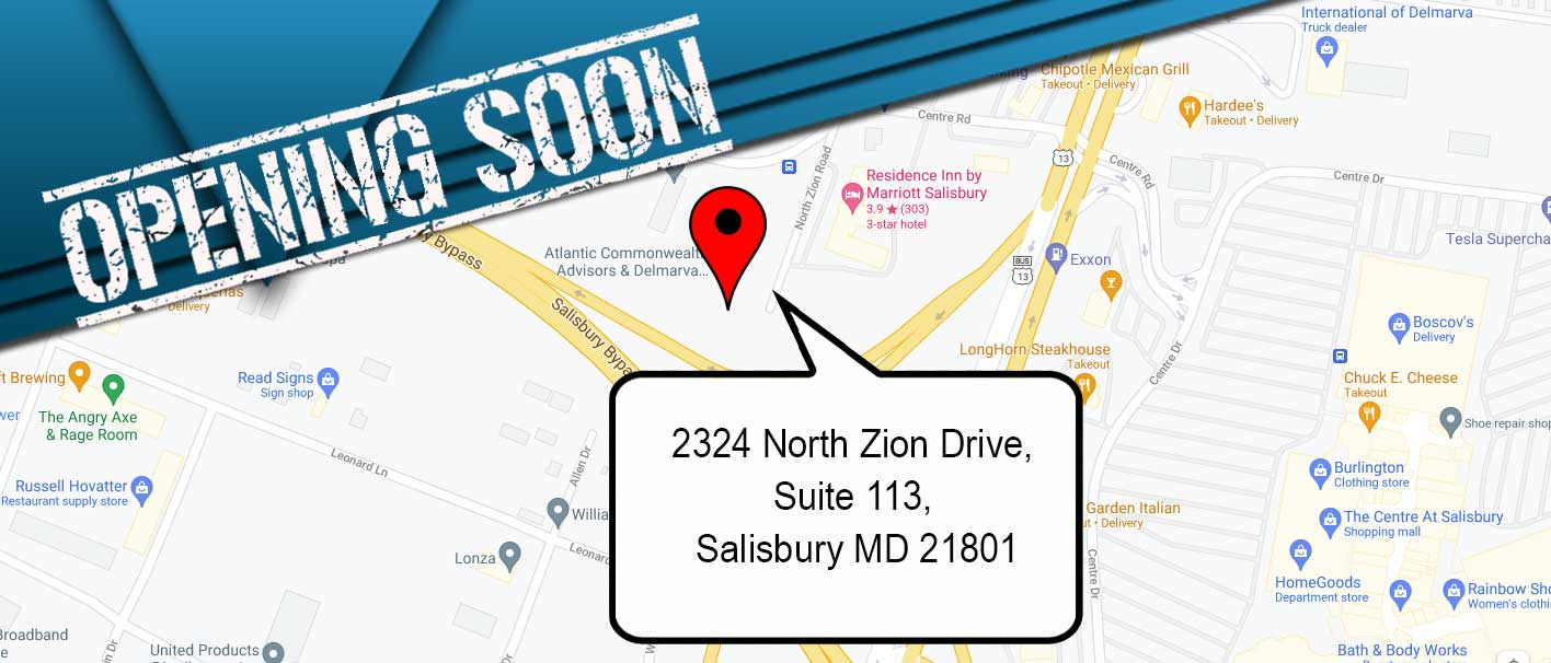 New location on Eastern Shore, Maryland